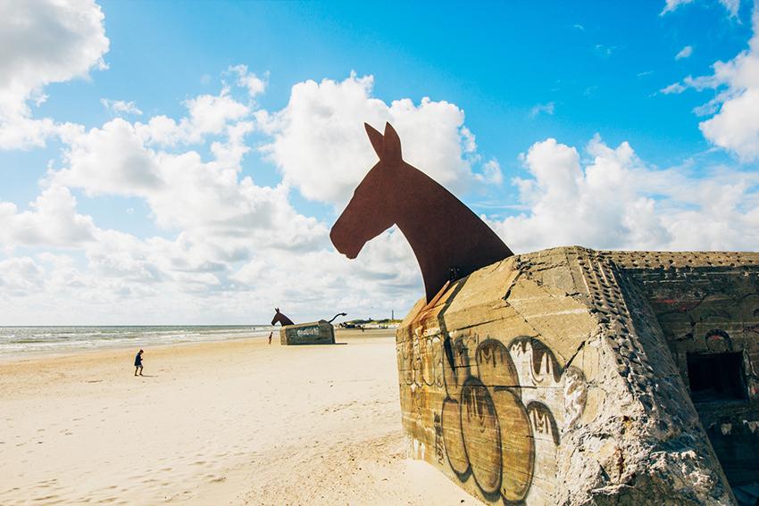 Blåvand, de fire muldyr, bunkers i vestjylland, vestjylland seværdigheder, seværdigheder i vestjylland, seværdigheder i Varde, Seværdigheder i Blåvand, hest bunkers,
