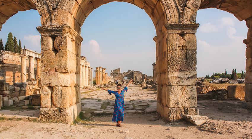 Hierapolis, Hierapolis ruiner, ruinerne i Hierapolis, Pamukkale ruiner, Pamukkale Hierapolis, Danish travel blog, Rejseblog, Rejseblog dansk