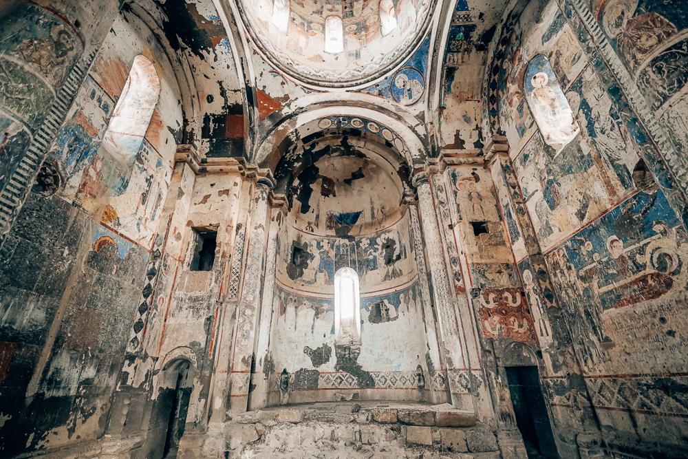 Armenske freskoer, malerier i kirker, seværdigheder i Tyrkiet, Tyrkiet seværdigheder, unikke seværdigheder i Tyrkiet, Oplevelser i øst tyrkiet, det østlige Tyrkiet, The Church of Saint Gregory of Tigran Honents Ani,