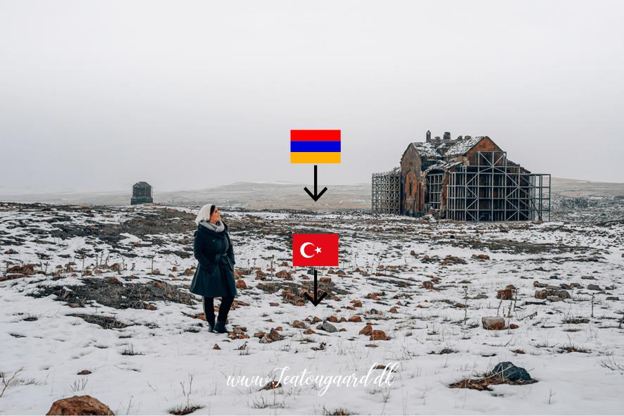 Tyrkiet armenien, grænsen mellem tyrkiet og armenien, Ani ghost town, den forladte by Ani, Ani i Kars