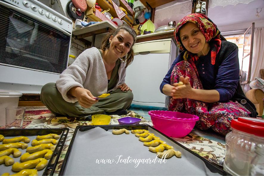 småkager med svigermor, tyrkisk svigermor, tyrkiske småkager, tyrkiske s pasta, småkager fra Tyrkiet, tyrkisk familie
