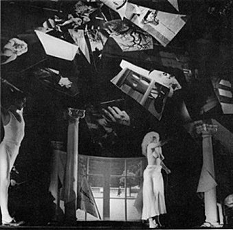 Rosenfest Fragment XXX, terzo sguardo, immagine di Giulio Paolini, regia di Carlo Quartucci, con Carla Tatò, Berlino, Hebbel theater, 1984.