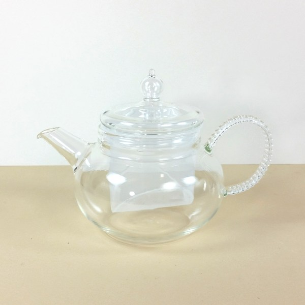 Glass Teapot with Textured Handle