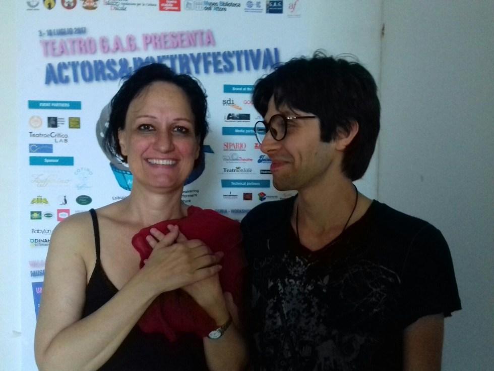 Interviste ai concorrenti. I vincitori Marica Roberto (Se<ione autori performers) e Stefano Bondi (Sezione audiolibri)