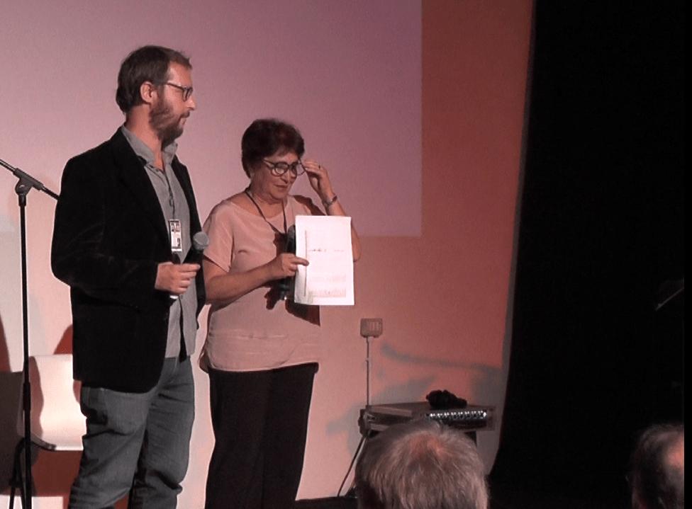 Annalaura Carano annunciano i premi di Portofino Dubbing Glamour Festival della Warner Bros Pictures e Marco Checchi SDI Media e