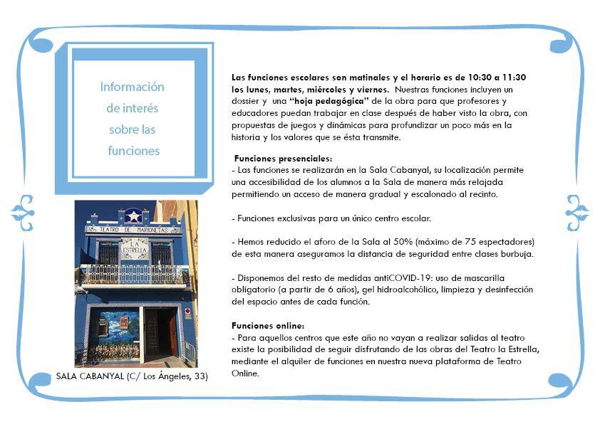 Campaña Escolar TEATRO LA ESTRELLA 2020-20219