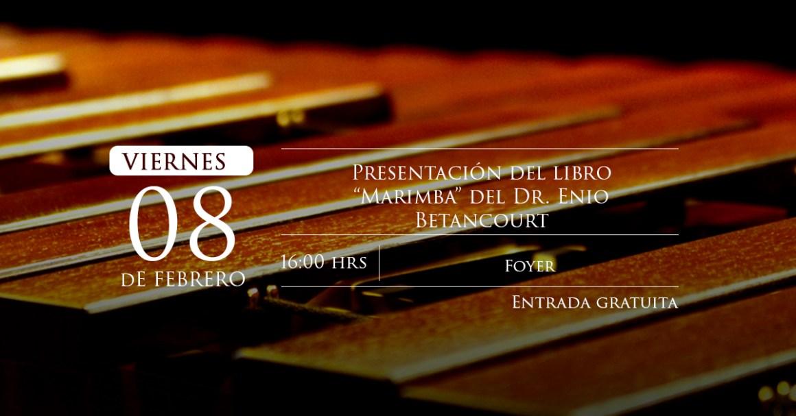 """Presentación del libro """"Marimba"""" del Dr. Enio Betancourt"""