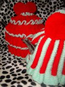 Frilly & Striped Tea Cosy