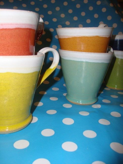 Multi Coloured Cups