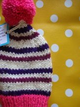 Pink and Purple Striped Hat