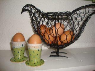 Green Polka Dot Egg Cups