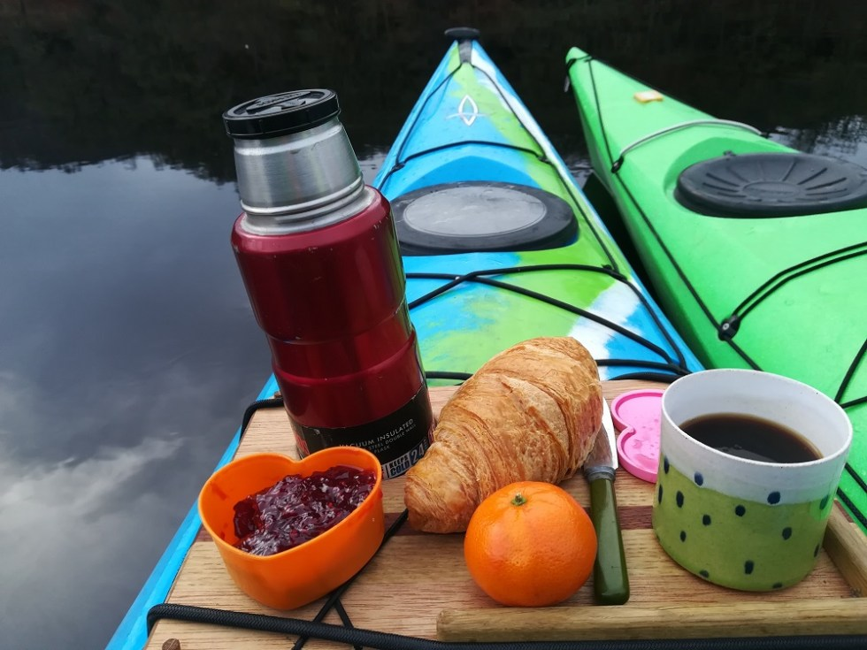 Breakfast in a Kayak