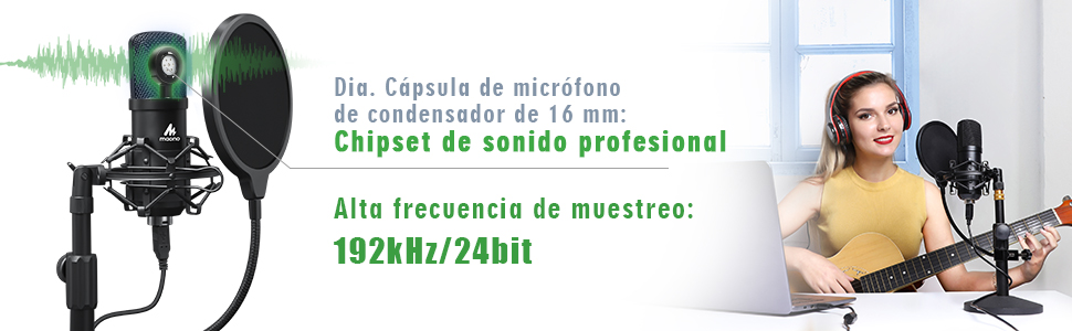 Kit de micrófono USB Condensador 8
