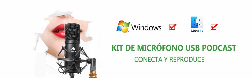 Kit de micrófono USB Condensador 6