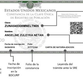 Curp Clave Unica De Registro De Poblacion
