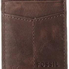 Fossil Ellis - Funda de piel con tapa magnética para hombre