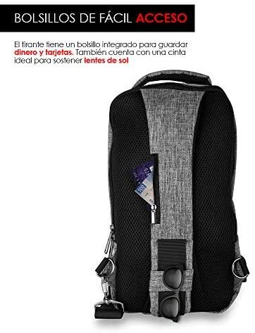 Redlemon Mochila Cruzada Impermeable Mini con Puerto USB 6