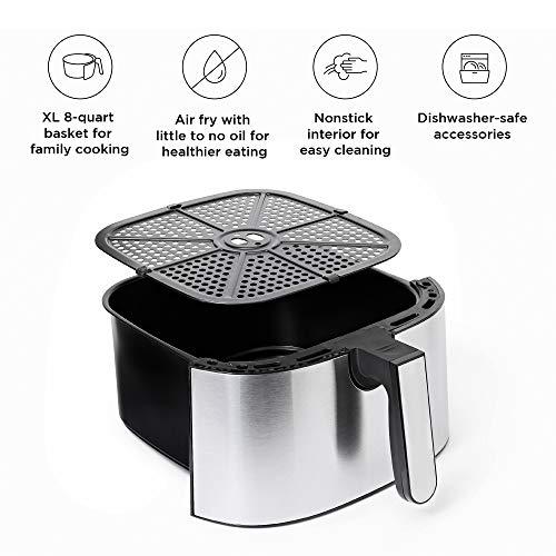 Chefman Freidora de Aire Digital de 7.5 Litros | Freidora de aire | Fríe sin Aceite | TurboFry | Sin BPA 3