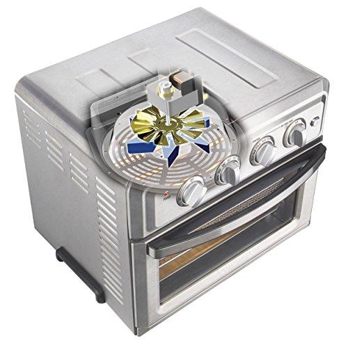 Cuisinart TOA-60BKS Freidora de aire para horno tostador, negro SS 5