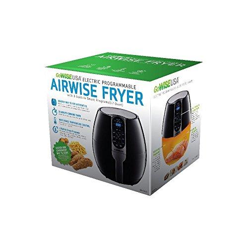 GoWISE USA Aire Freidora programable de 3.7 cuartos con 8 presintonías de cocinero, GW22638 6
