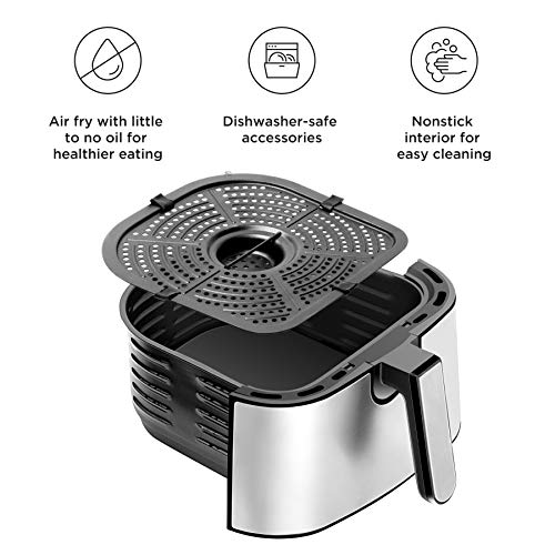 Chefman Freidora de Aire Digital de 4 Litros | Airfryer | Ajustes Preestablecidos | Acero inoxidable 4