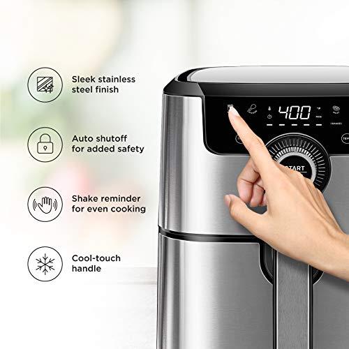 Chefman Freidora de Aire Digital de 4 Litros | Airfryer | Ajustes Preestablecidos | Acero inoxidable 3