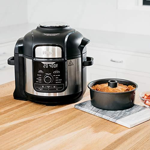Ninja FD401 Foodi 8-Quart 9-in-1 Deluxe XL Olla a presión, Asar, deshidratar, cocinar a fuego lento, freidora y más, con acabado inoxidable 11