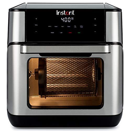 Instant Vortex Freidora de aire con programas de cocción de un solo toque, para fritura de aire, asar, hornear, recalentar, 7 en 1, Con asador, asado, broil, hornear, recalentar y deshidratar., 10 Qt, 1 1