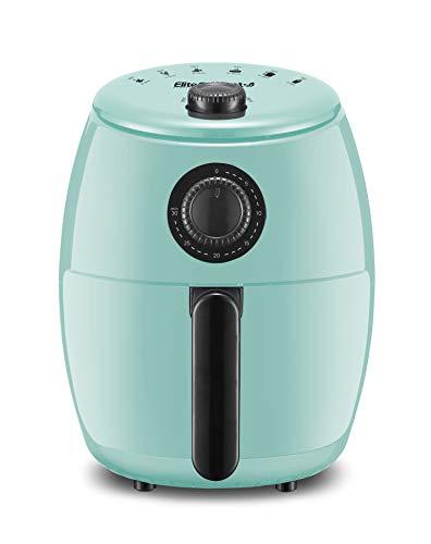 Maxi-Matic EAF-0201BL Freidora de aire caliente eléctrica compacta personal que ahorra espacio Cocina saludable sin aceite, temporizador y controles de temperatura, sin PFOA / PTFE, 1000 vatios, 2,1 cuartos, agua 1