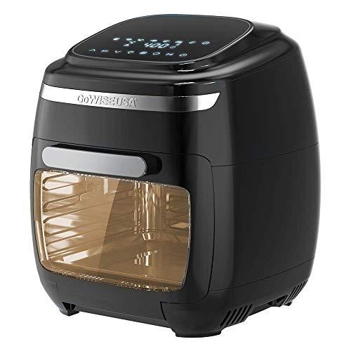 GoWISE USA GW77722 Horno freidora de aire de 11,6 cuartos con asador y deshidratador + 50 recetas, Vibe, negro 2