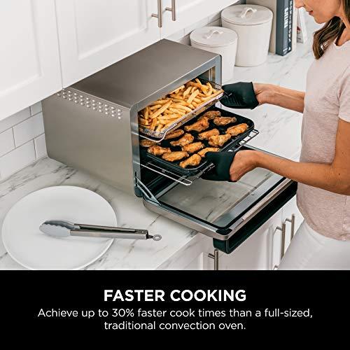 Ninja DT251 Foodi 10 en 1 Smart Air Fry Horno tostador de convección digital con termómetro capacidad XL y un acabado de acero inoxidable 6