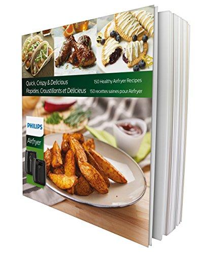 Philips Airfryer digital premium con tecnología para quemar grasa con libro de cocina Bonus 150+, 3 cuartos de galón, negro HD9741 / 99 8