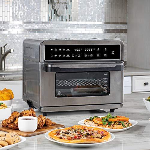 Freidoras Aria Air ATO-898 Freidora de aire para horno tostador, 30 qt, acero inoxidable cepillado 10