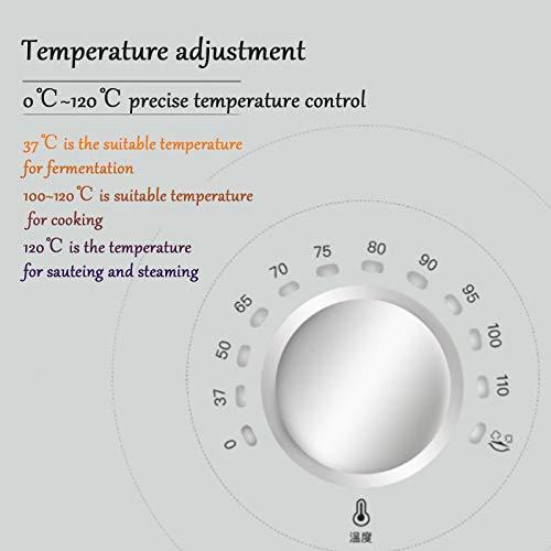 HXXXIN Máquina De Cocción Inteligente Multifuncional, para Cocinar Al Vapor, Freír, Guisar, Olla De Cocción Automática Adecuada para Estudiantes Internacionales Y Trabajadores De Cuello Blanco, Red 2