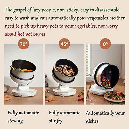 HXXXIN Máquina De Cocción Inteligente Multifuncional para Cocinar Al Vapor, Freír, Guisar Y Freír para Satisfacer Todas Las Necesidades. Máquina De Cocción Doméstica Completamente Automática 5