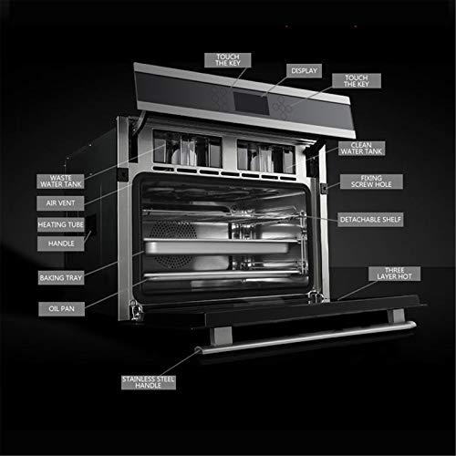 Horno único ventilador de acero inoxidable A Rendimiento energético Solo horno microondas en plata Tact Premium convección horno horno halógeno ideal para asar y hornear 6
