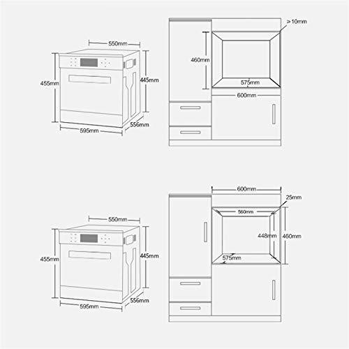 Horno único ventilador de acero inoxidable A Rendimiento energético Solo horno microondas en plata Tact Premium convección horno horno halógeno ideal para asar y hornear 8