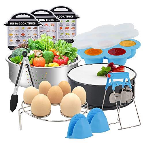 Sunix Accesorios para freidoras de Air presión de 5/6/8 cuartos de galón libro de cocina, aprobado por la FDA, sin BPA, 11 piezas 1