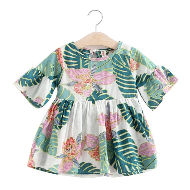 Floral Pattern Baby Girl's Dress