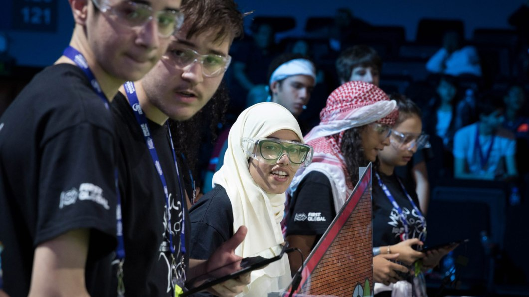Youth from different cultures during FIRST tournament