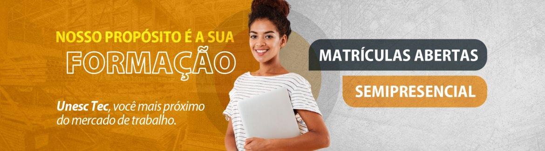 Cursos Técnicos em Criciúma e Araranguá - Semipresenciais