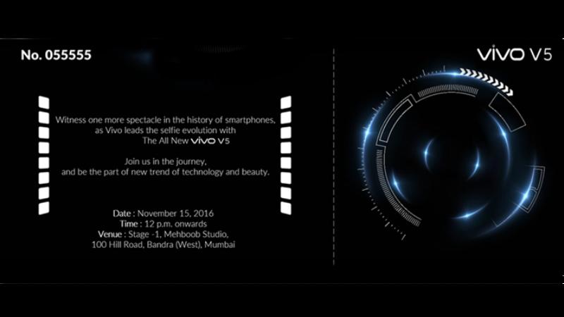 91909d55ad5 Vivo V5 to release in India on November 15
