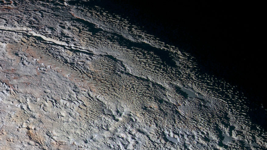 Earthy ice on Pluto