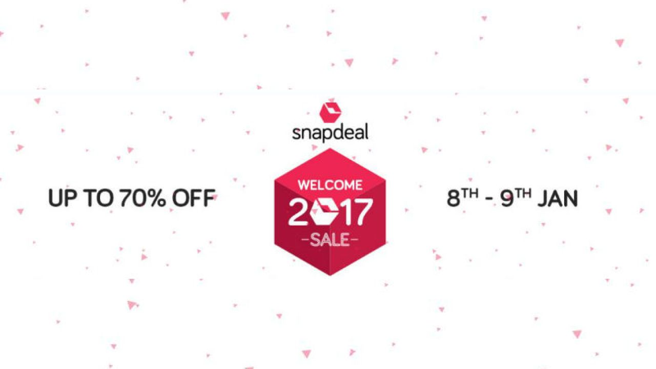 c9c21d10e Shop and save 70% with Snapdeal  Welcome sale on Januray 8 and 9