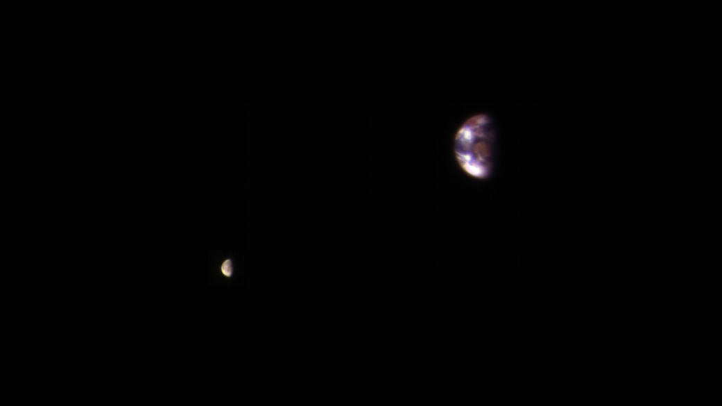NASA shares incredible composite image of Earth and its moon as seen from Mars by MRO