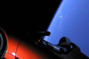 Tesla Roadster with flyby Earth, Venus, & Mars; it might collide with a planet in few million years