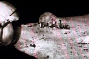 Are there people and buildings on the moon? Conspiracy theorists releases a video grab from Apollo 16 mission
