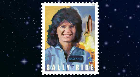 New Forever stamps featuring Sally ride released by USPS