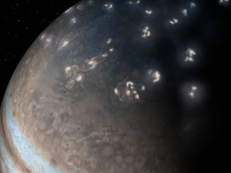 Lightning at Jupiter is just like Earth's. Except where it's not