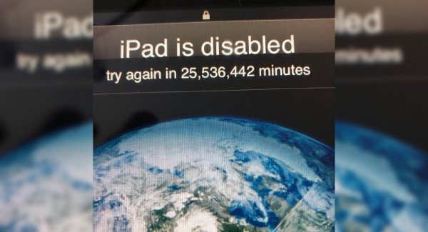 3-year-old repeatedly enters wrong password, locks dad's iPad until 2067